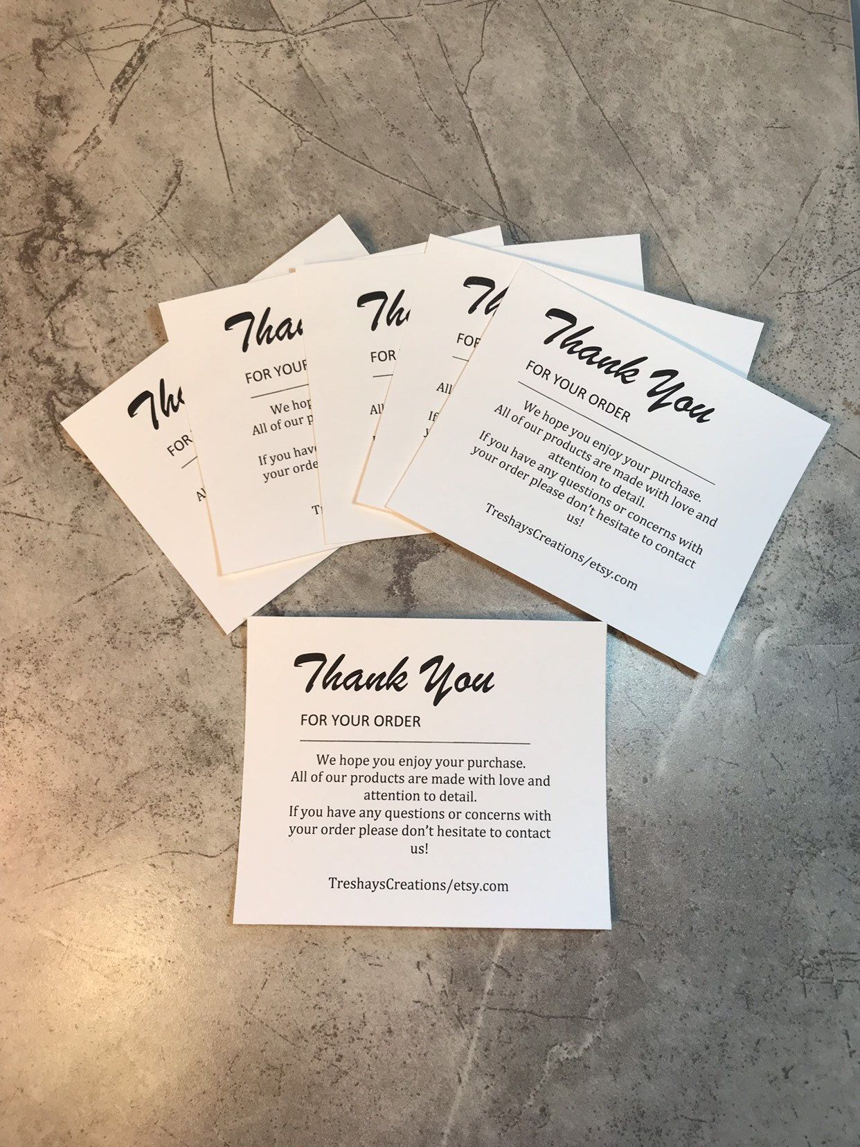 Set Of 30 Personalized Thank You Notes Etsy Seller Thank You