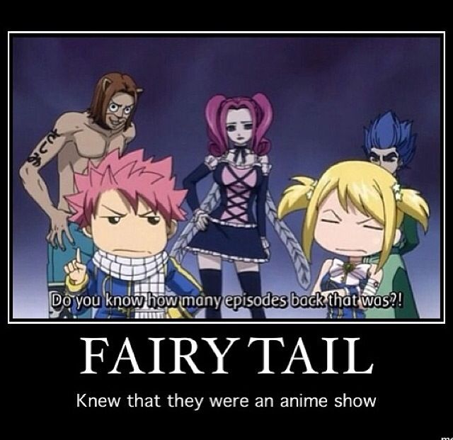 Fairytail knows they're in an anime