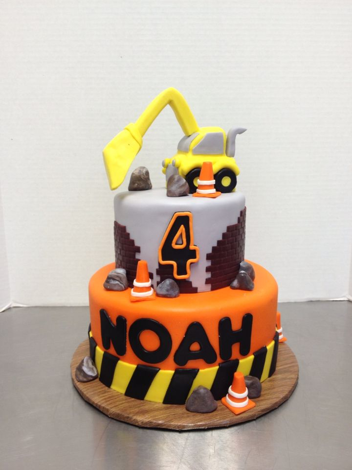 Fun Construction Cake For A Boys Birthday Child Birthday Cake