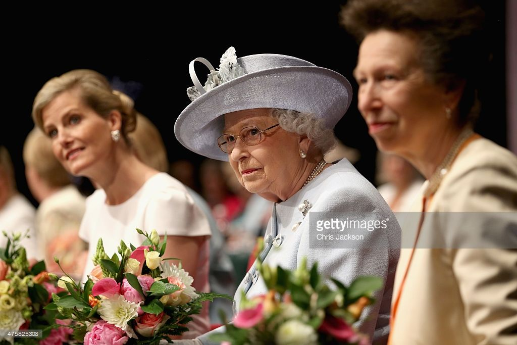 Sophie, Countess of Wessex, Princess Anne, Princess Royal and Queen Elizabeth II attend the Centenary Annual Meeting of The National Federation Of Women's Institute at Royal Albert Hall at the Royal Albert Hall on June 4, 2015 in London, England.  (Photo by Chris Jackson - WPA Pool/Getty Images)