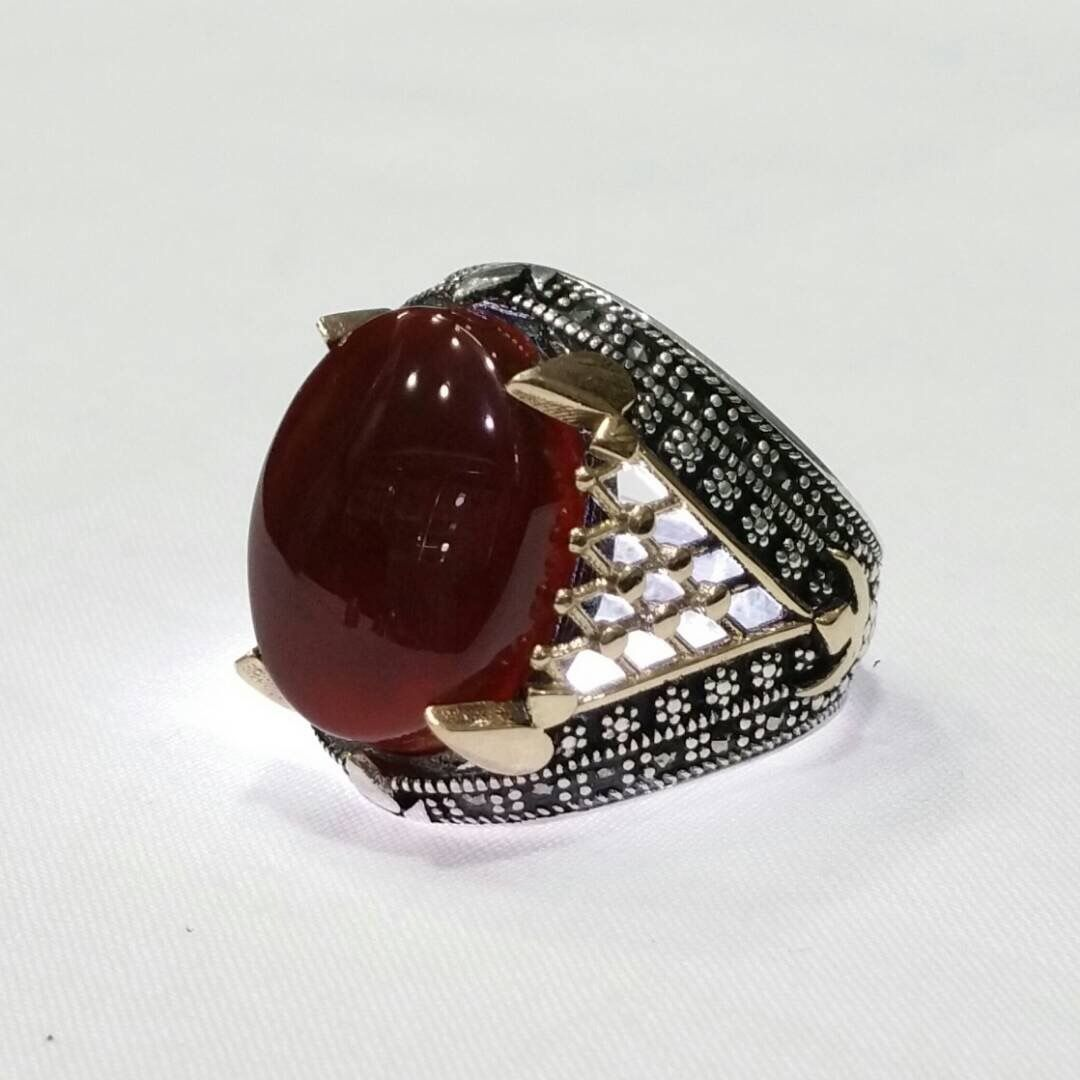 Ring Silvers Yemeni خواتم خاتم فضة تركية اسطنبولية اليمن صنعاء بيع وشراء العقيق اليماني جملة وتجزئة Rings For Men Rings Gemstone Rings
