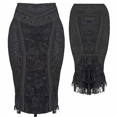 Jawbreaker-Victorian-Lace-Pencil-Skirt-Gothic-Punk-Wiggle-Rockabilly-Steampunk