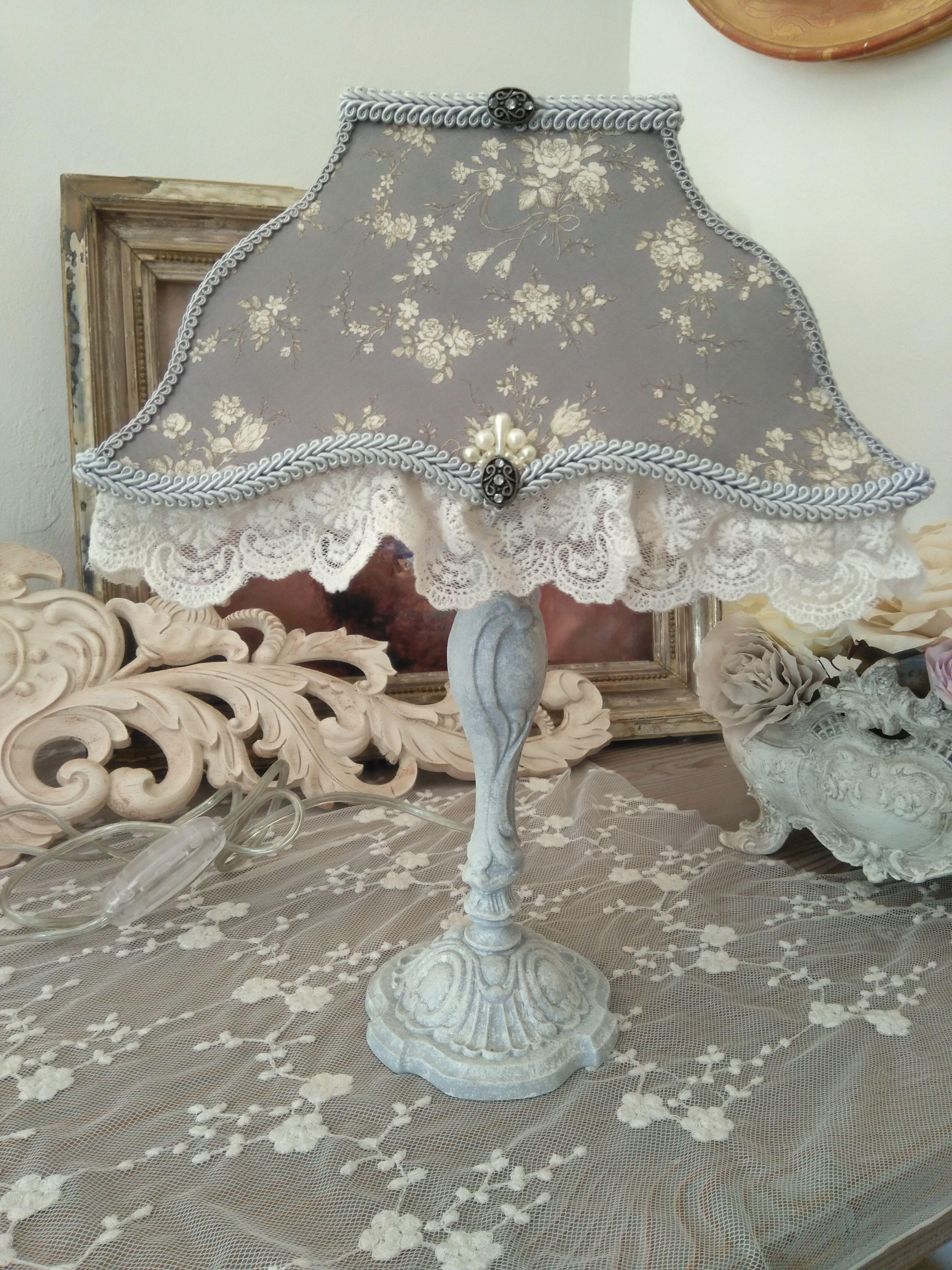 Lampe Romantique Pour Interieur Shabby Chic Ou Cosy Pied De Lampe