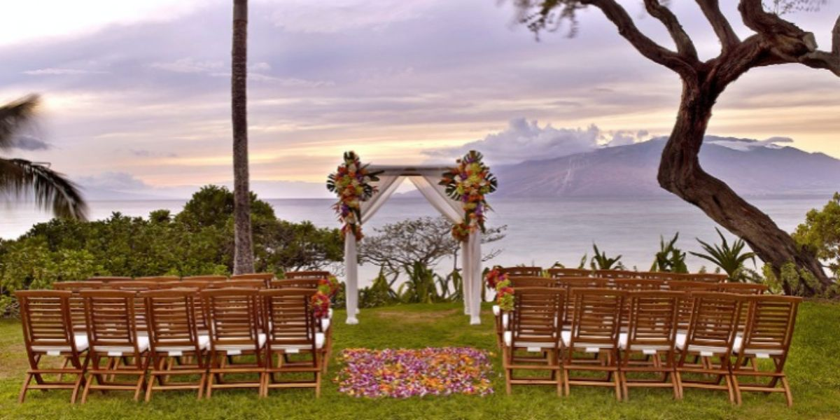 Outdoor Aisle In A Beach Wedding Andaz Maui At Wailea Weddings