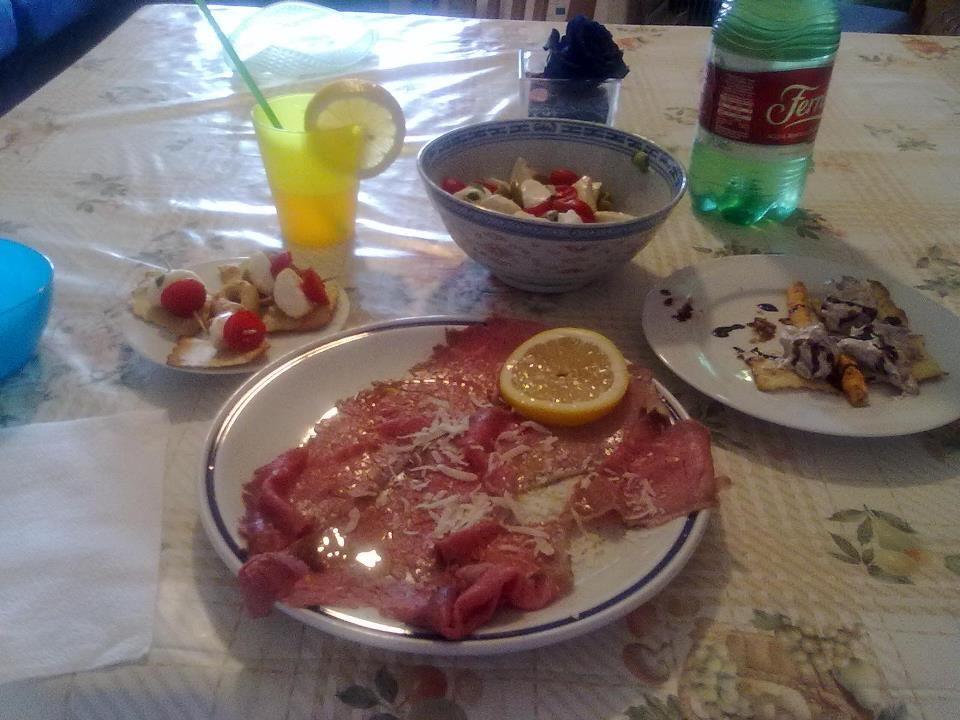 cena preparata da mio figlio Bruno