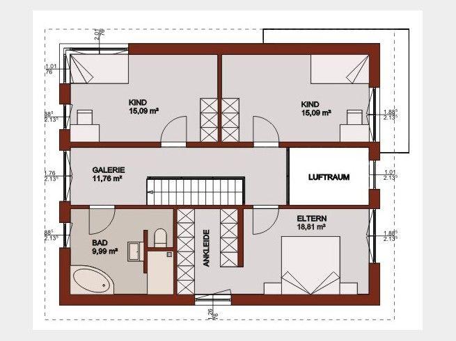 Grundriss DG Haus Pinterest Grundrisse, Grundriss - badezimmer grundriss planen