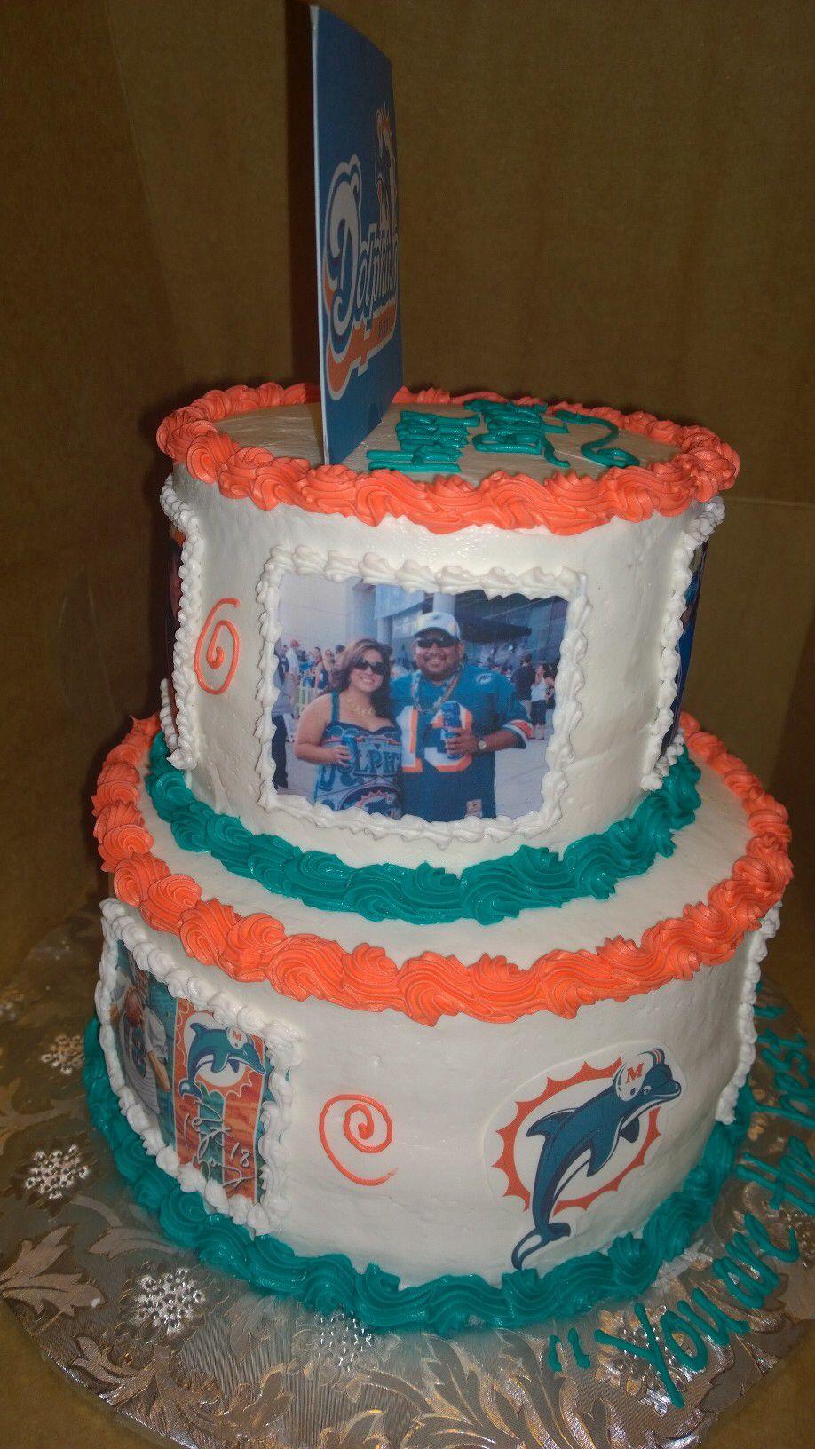 Miami dolphin cake miami dolphins cake dolphin cakes