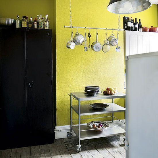 yellow | paint wall | Pinterest | Ikea kitchen cart, Kitchens and ...