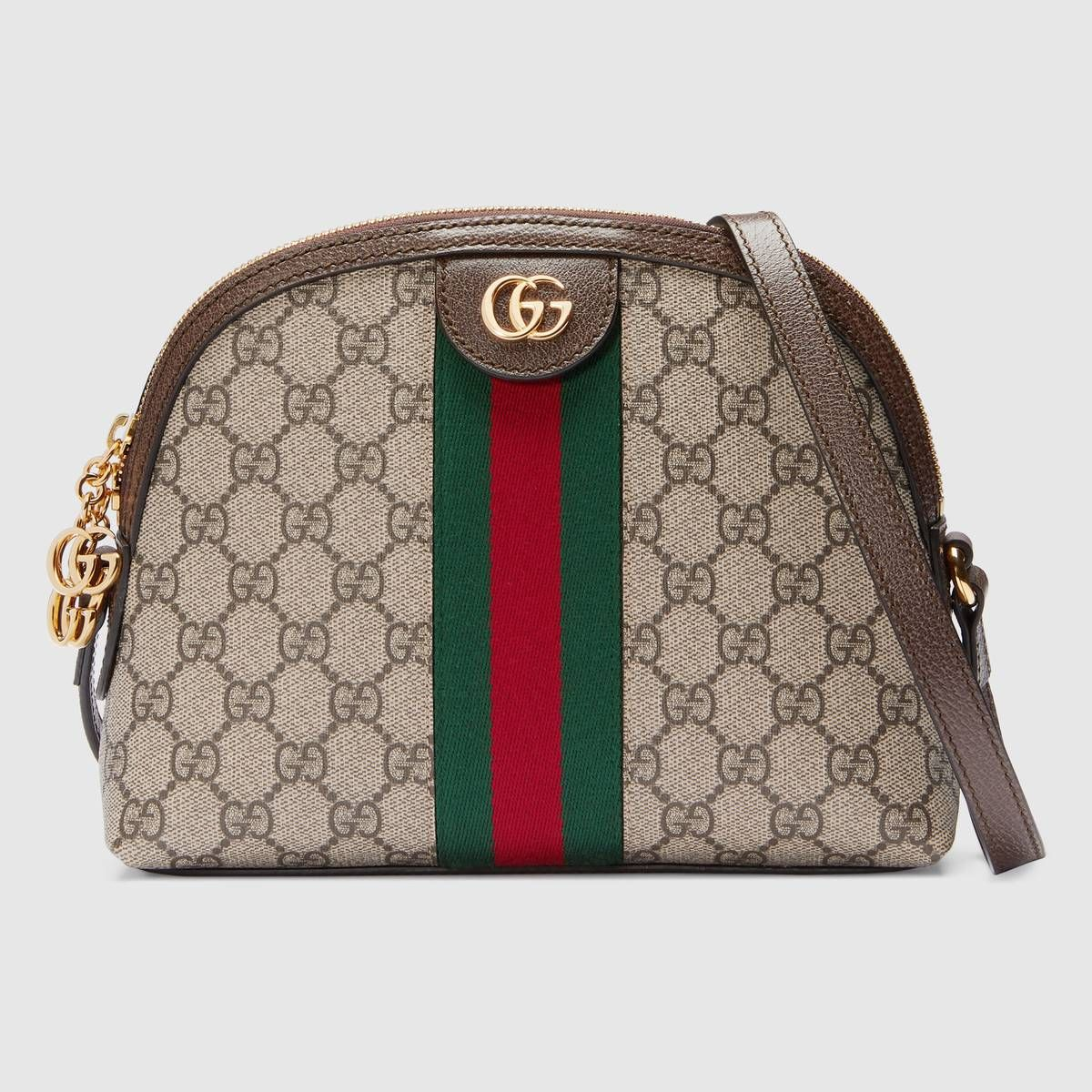 01b0694b7a1da Shop the Ophidia GG small shoulder bag by Gucci. Crafted in GG Supreme  canvas with