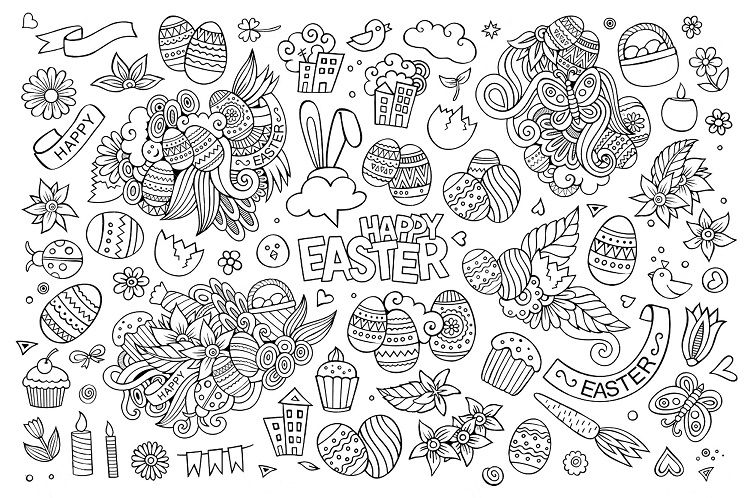 Easter Coloring Pages Doodle Check More At Coloringareas 7761