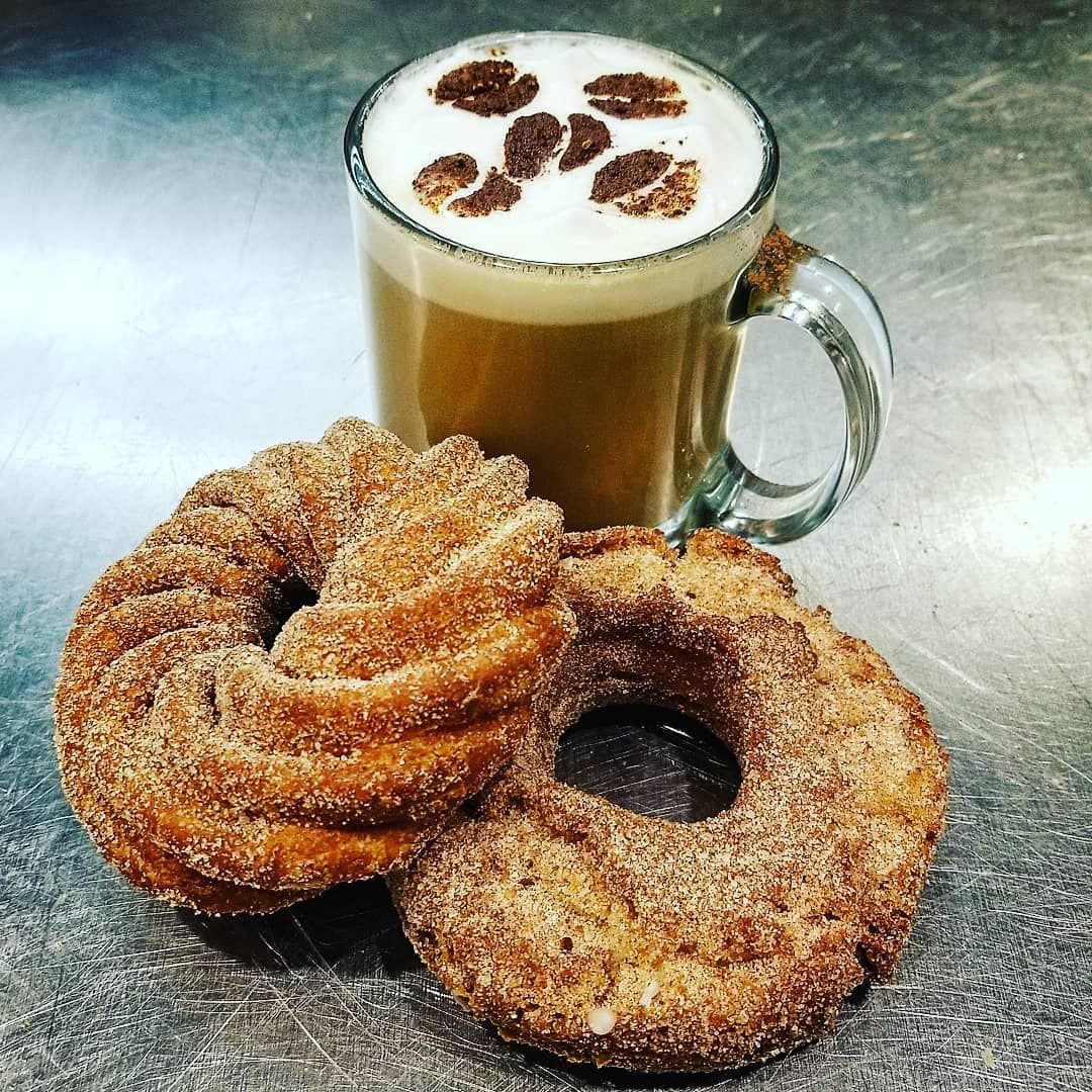 NATIONAL CAFE AU LAIT DAY With cinnamon sugar and churro