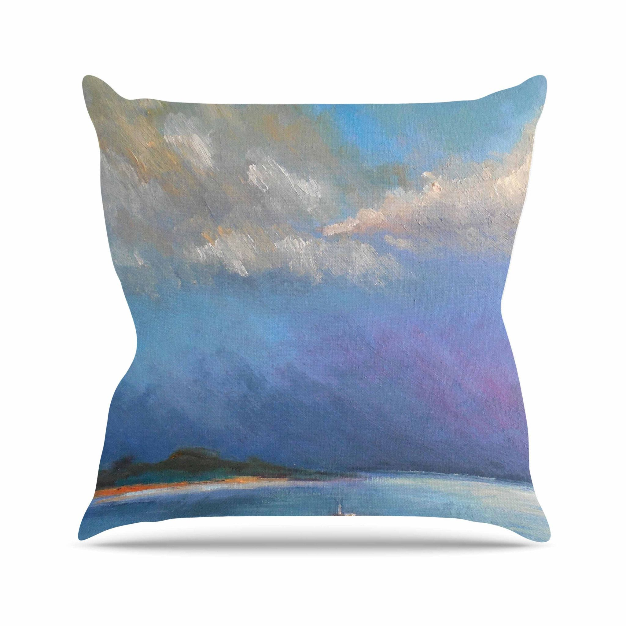 "Carol Schiff ""Heading Out"" Blue Nature Throw Pillow"