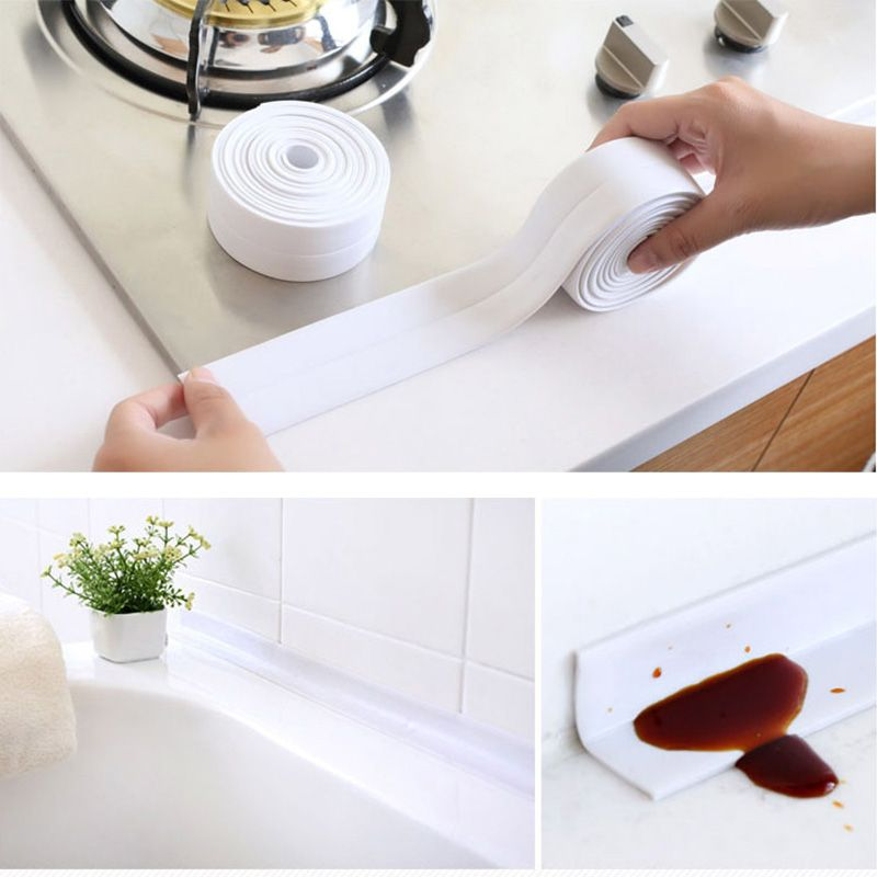 Bathroom Kitchen Wall Sealing Tape Waterproof Gadgets Mold Proof Adhesive Tapes