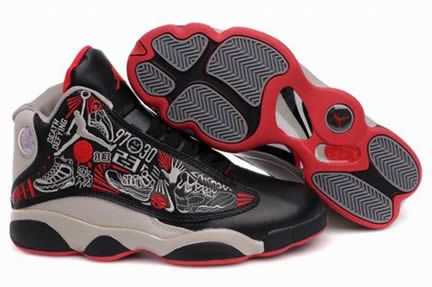 newest 818b5 e28a3 $52.63/pair Cheap ir Jordan 13 (XIII) Black/Brown-Red from ...