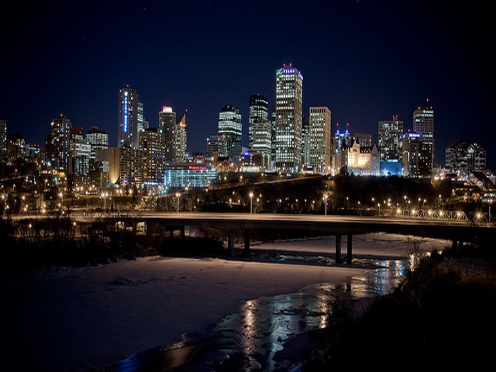 Edmonton Skyline Wallpaper Wallpapers Capital Of Canada