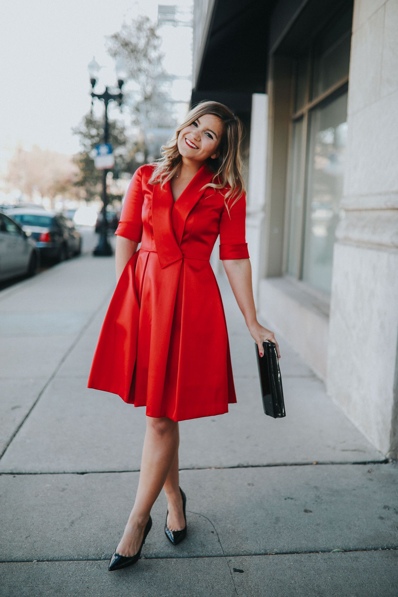 3065f5dac3 Red Gal Meets Glam Dress - it comes in petite, too! #galmeetsglam | Gal  Meets Glam Ruby Dress | #holidaydress #reddress #petiteblogger #retro