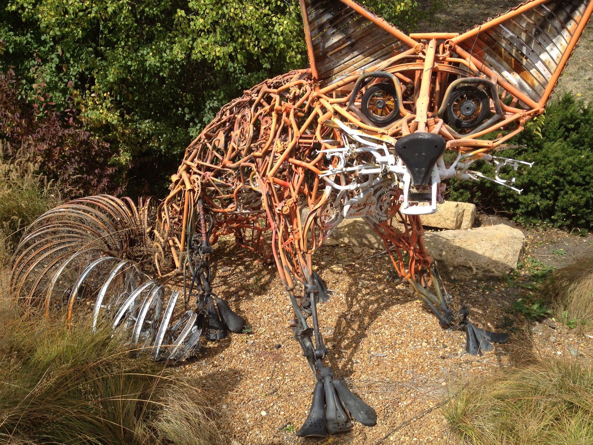 Fox sculpture sculpture metal art sculpture sculpture art
