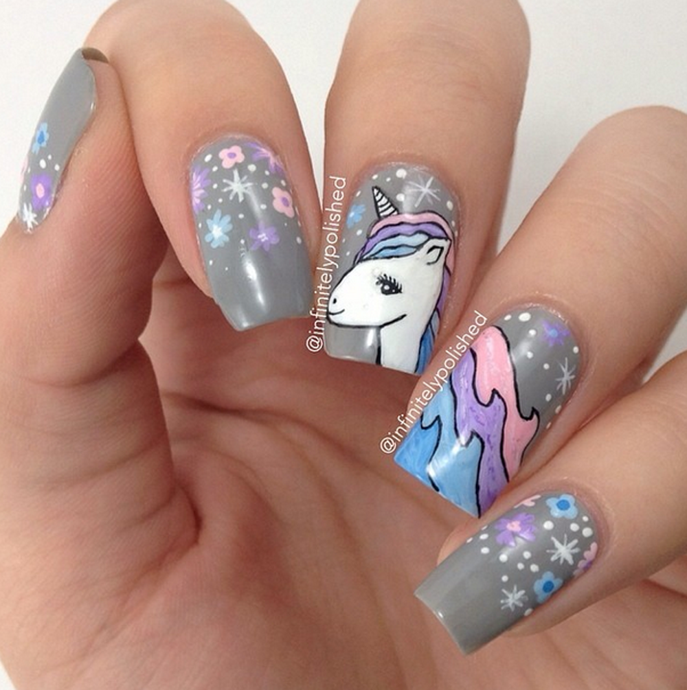 faux ongles licorne