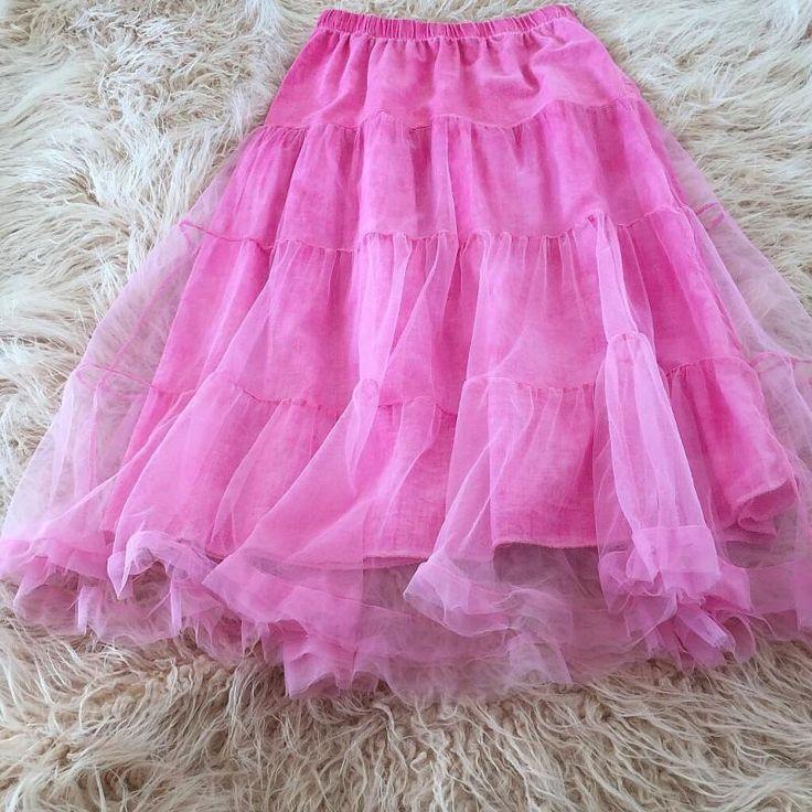 Jupon en tulle : jupe tulle jupon boheme rose pink