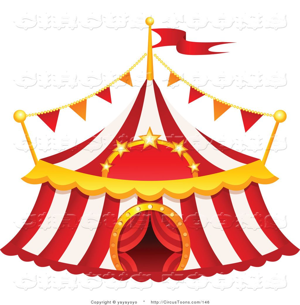 circus pictures clip art circus clipart of a red and white striped rh pinterest com au free circle clip art borders free circus clip art