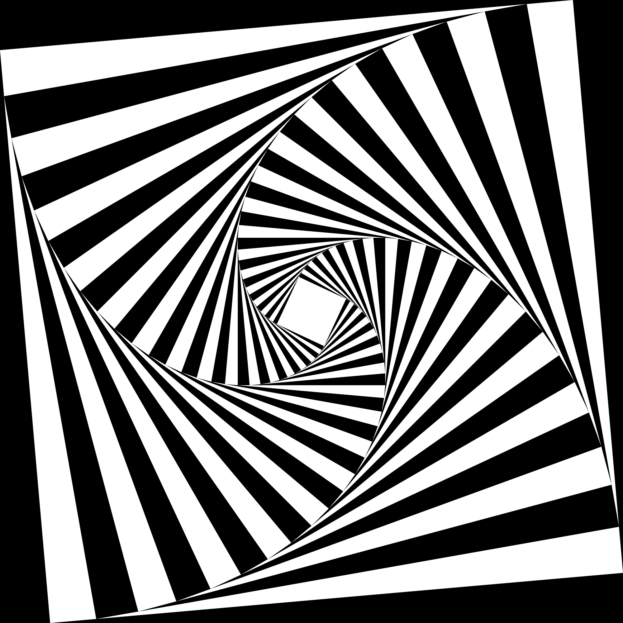 File Op Art 4 Sided Spiral Tunnel 6g
