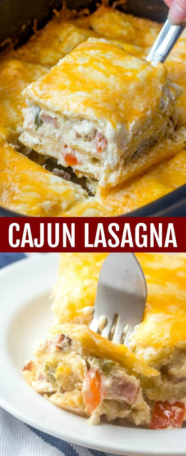 Cajun Lasagna {A Traditional Dish with Spicy Flair}