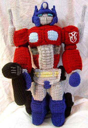 Happy Little Robot Crochet Pattern | Bebek oyuncakları, Kuklalar ... | 500x346