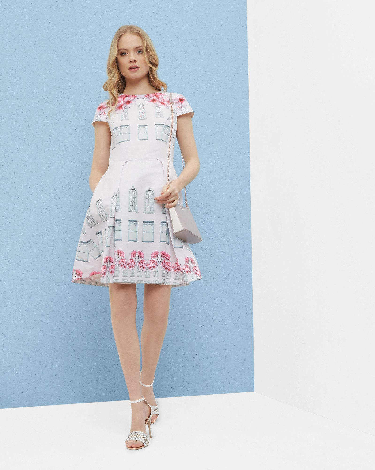 Window Box skater dress - Baby Pink | Dresses | Ted Baker | ted ...