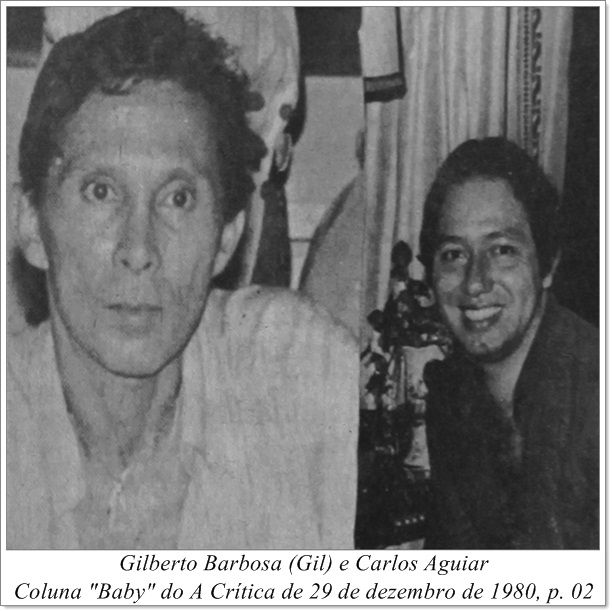 """Gilberto Barbosa (Gil) e Carlos Aguiar. Coluna """"Baby"""" do A Crítica de 29 de dezembro de 1980."""