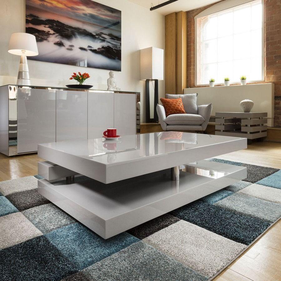 Beautiful Coffee Side Table Tables Grey Gloss Modern Designer 397a Minimalist Coffee Table Coffee Table Coffee Table Design [ 900 x 900 Pixel ]