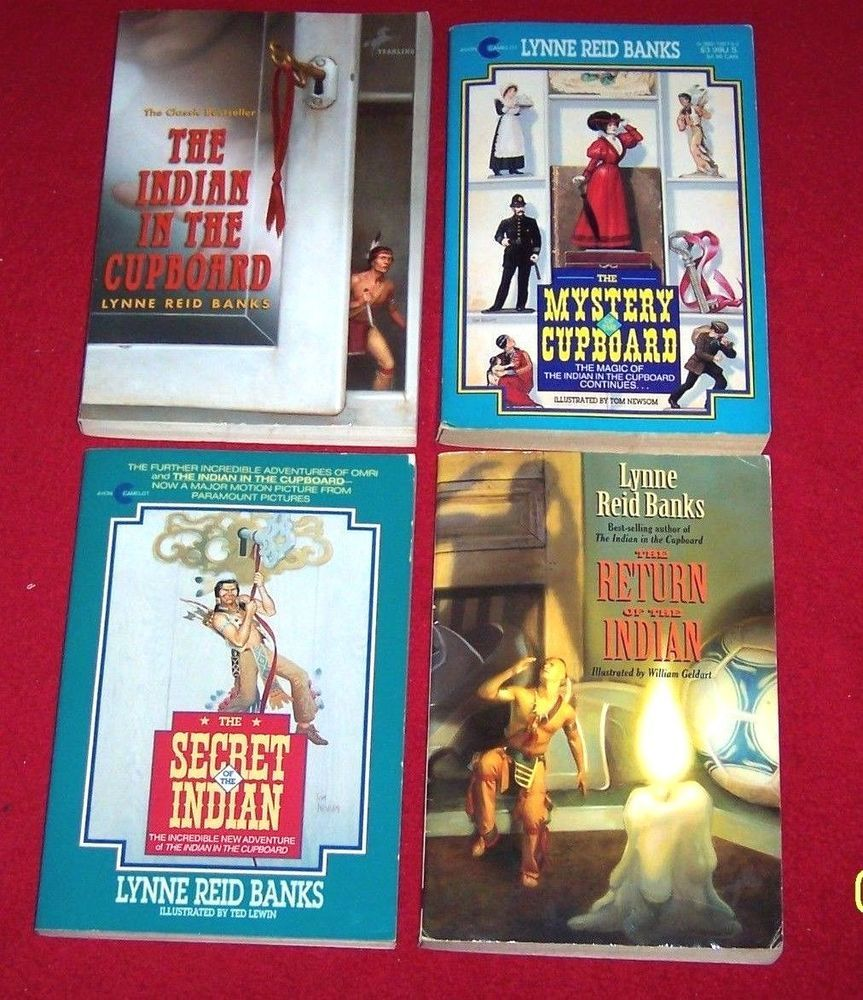 4 Indian In The Cupboard Chapter Books Lynne Reid Banks 4th 5th 6th Gr Age 8 12 Chapter Books Indian In The Cupboard Books