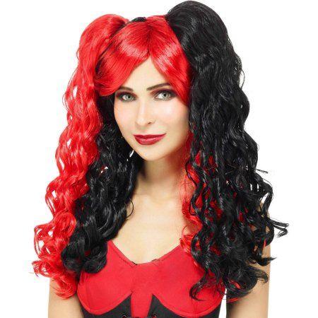 Spirit Black Red Wig Halloween Costume Accessory  bd920eada74d