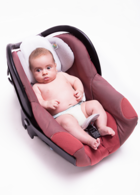baby pillow on car seat