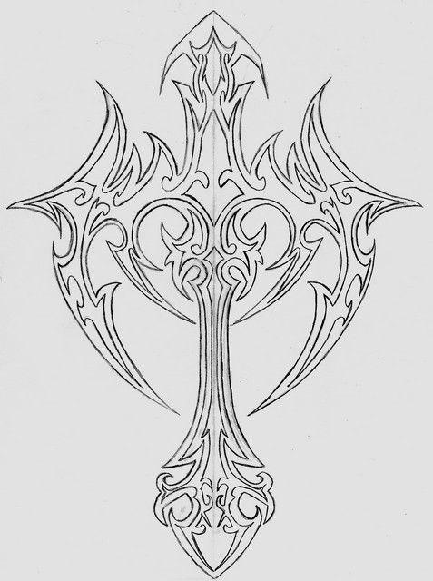 pin en cross tattoos