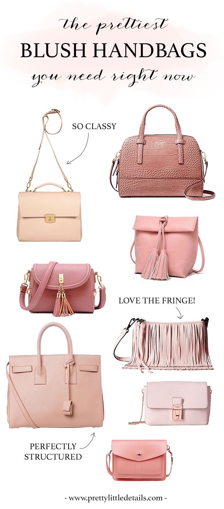 The Prettiest Blush Handbags