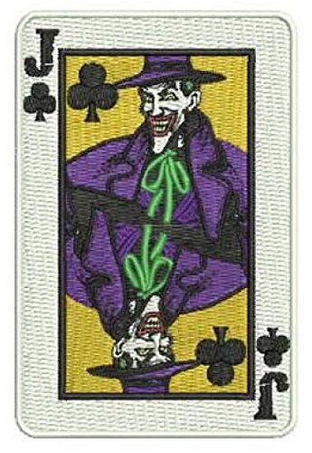 """PATCH BATMAN THE JOKER CARD  4/""""  IRON ON"""