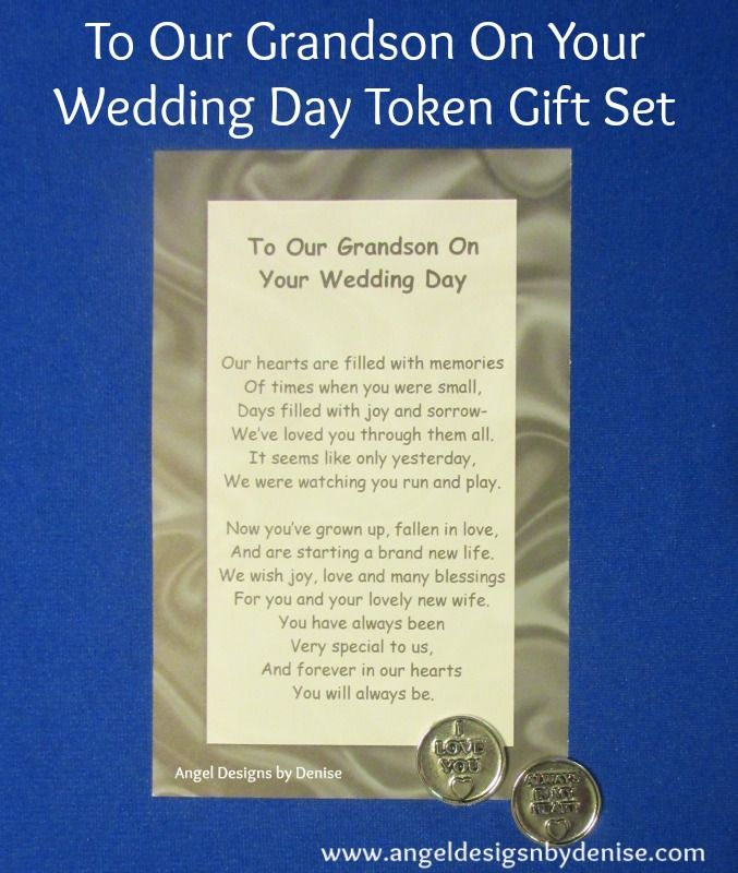To Our Grandson On Your Wedding Day Token Gift Set This Poem With A Pewter Is Perfect Keepsake Give His