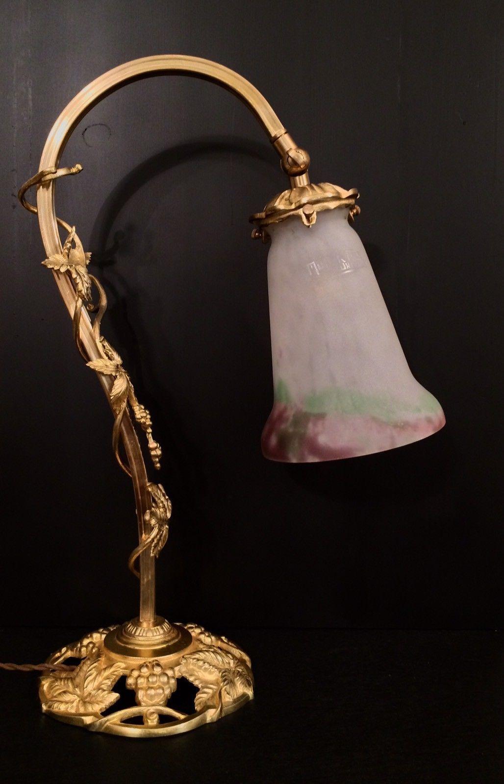 bronze tulipe en pate de verre