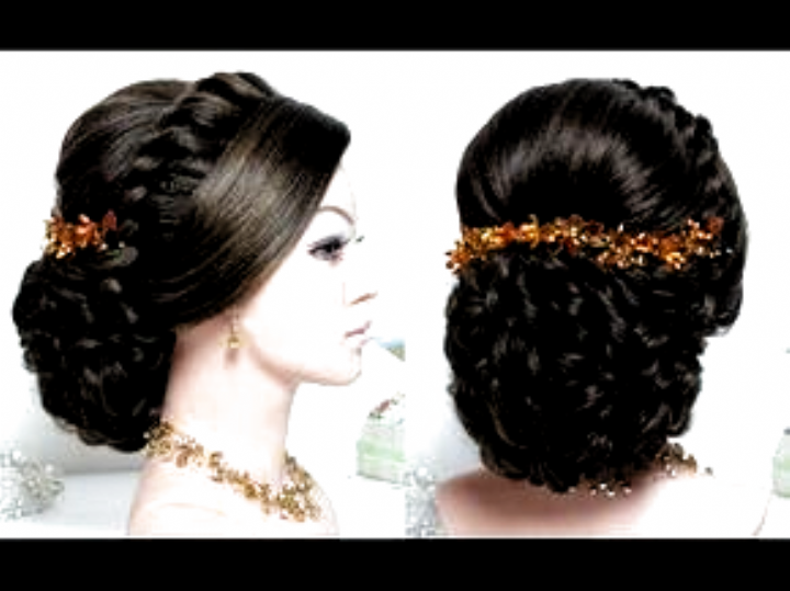Bridal Hairstyle For Long Hair Tutorial Wedding Updo Step By Step Youtube Hairstyles For Indian We In 2020 Long Hair Tutorial Indian Wedding Hairstyles Bridal Hair