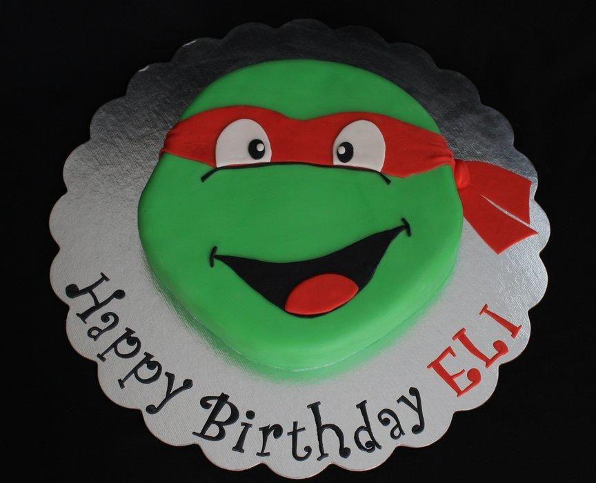 Michelangelo Ninja Turtle Cake