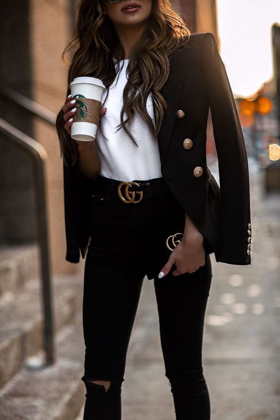 Photo of 17 Black blazer casual outfit
