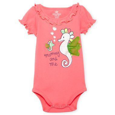 6bba80a8657d Okie Dokie® Graphic Bodysuit – Girls newborn-9m - jcpenney