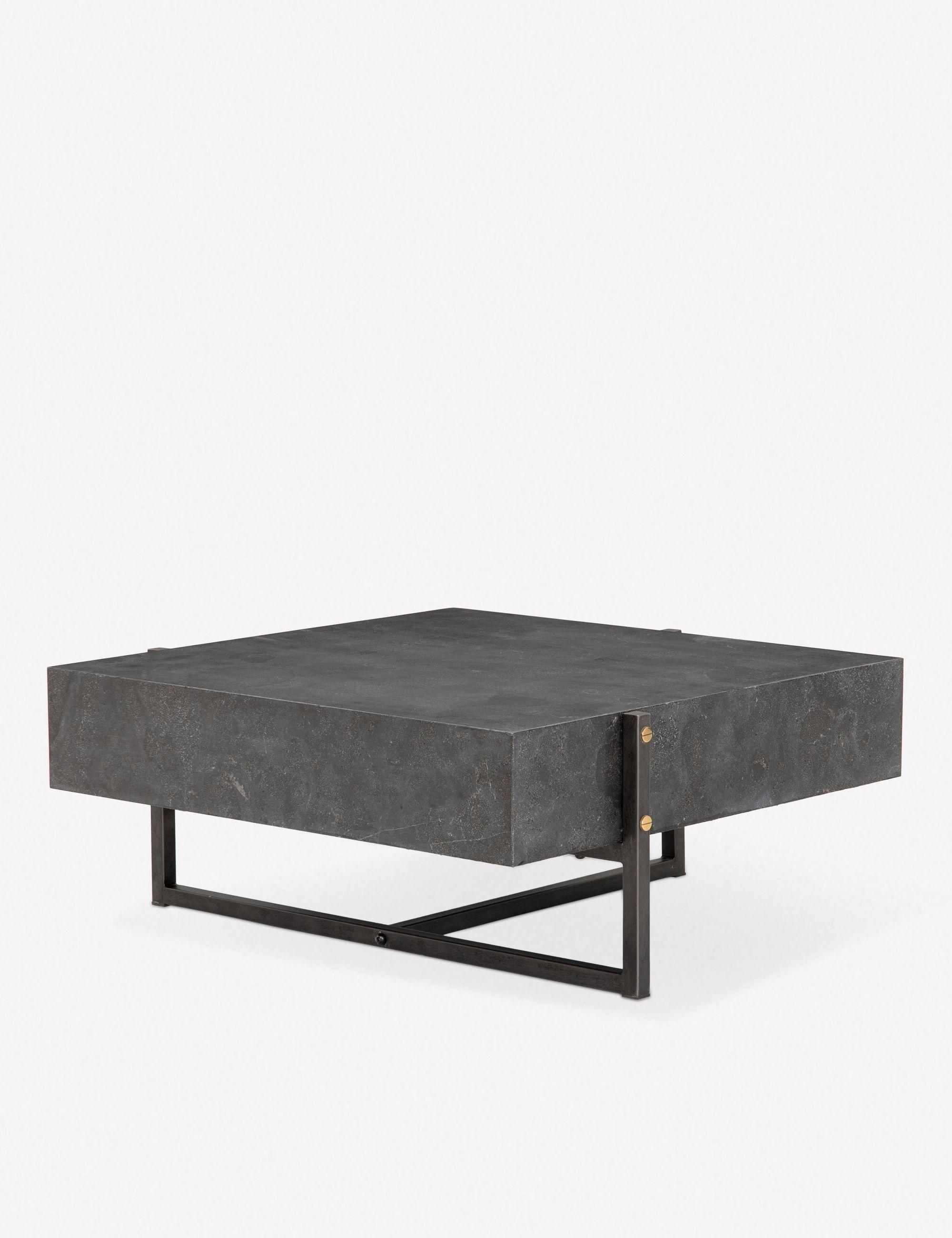 Alain Square Coffee Table Bluestone In 2020 Table Modern