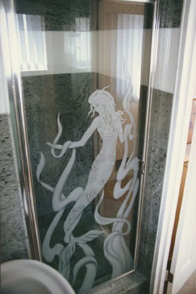 MERMAID SHOWER DOOR MERMAIDS Pinterest Shower doors Mermaid
