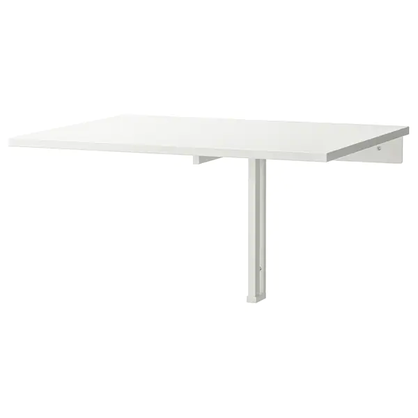 Norberg Vaegmonteret Klapbord Hvid Ikea In 2020 Drop Leaf Table Wall Mounted Desk Ikea Wood Console Table