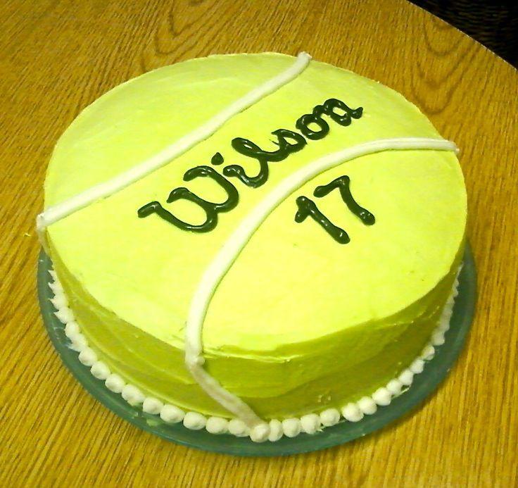 Geburt Tennis Cake Wilson Birthday For All Your Cake Decorating Supplies Please Visi Tennis Cake Tennis Cupcakes Cake Decorating