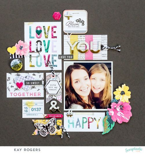 """Layout using the gorgeous """"Gale Song"""" February kit and add-on from Scraptastic."""