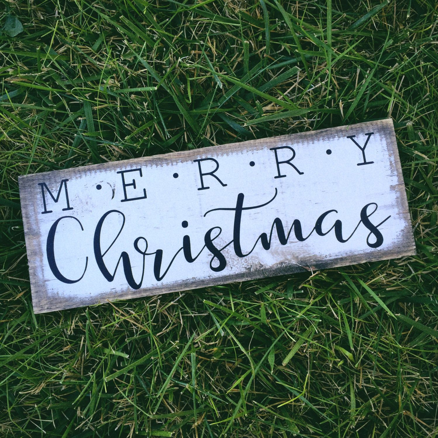 Merry Christmas Rustic Wood Sign Minimalist Décor Farmhouse Holiday 5 X15 By Mycraftshed On Etsy