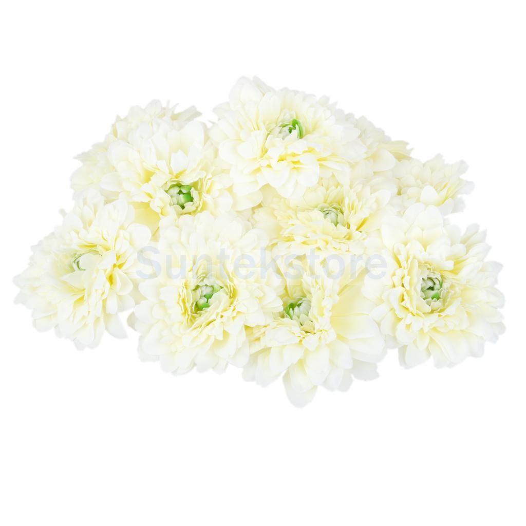 20xartificial Daisy Mum Silk Flower Heads Bulk Wedding Home Party