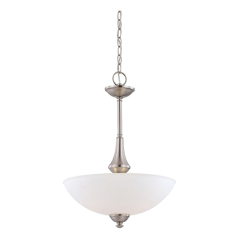Pendant ceiling lights with frosted glass set of filament